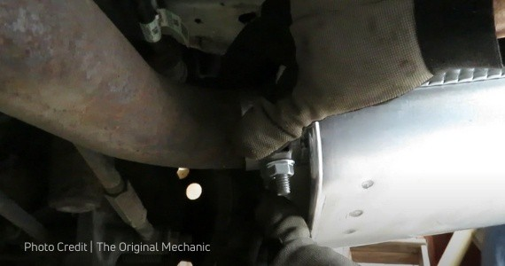 how to replace a muffler without welding